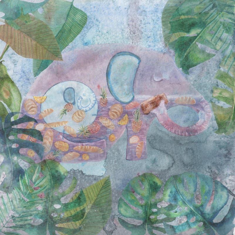 Illustration för en dikt om elefant arkivfoton