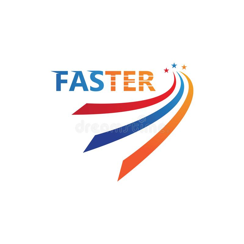 illustration för enkel design för hastighetssymbol royaltyfri illustrationer