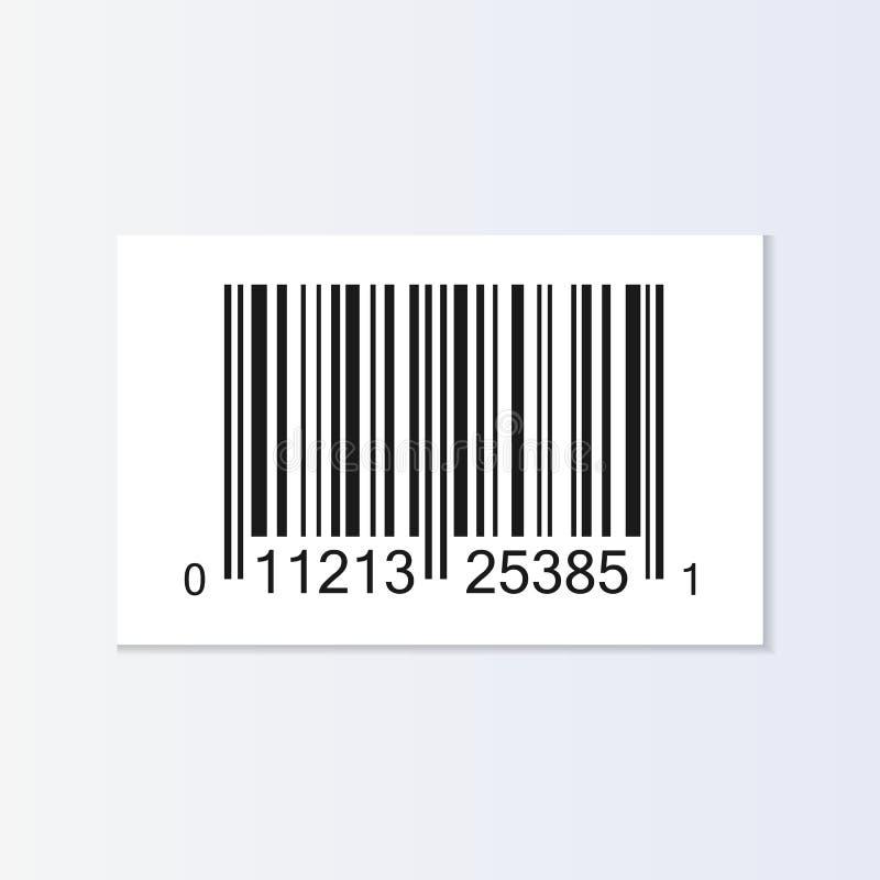 Illustration för etikett för stångkod vektor illustrationer