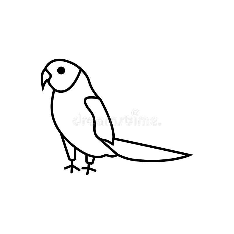Illustration för fågel för symbol för tecken för SKATAfågelvektor royaltyfri illustrationer