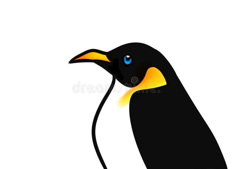 Illustration för fågelpingvintecknad film vektor illustrationer
