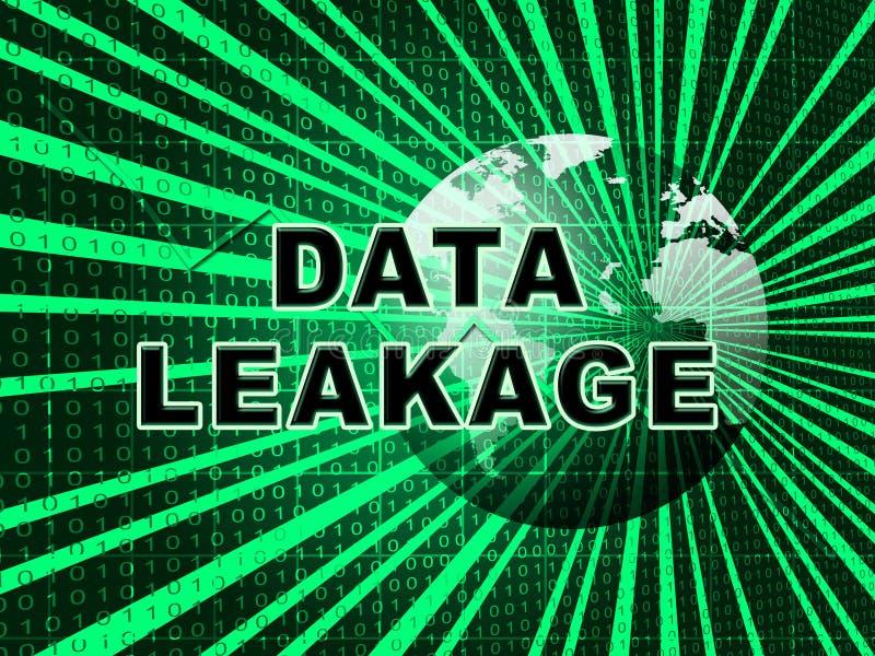 Illustration för förlust 3d för flöde för information om dataläckage royaltyfri illustrationer