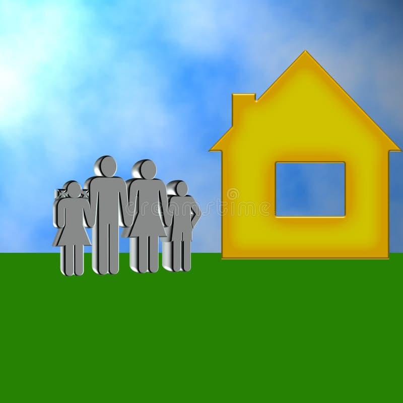 illustration för familj 3d royaltyfria foton