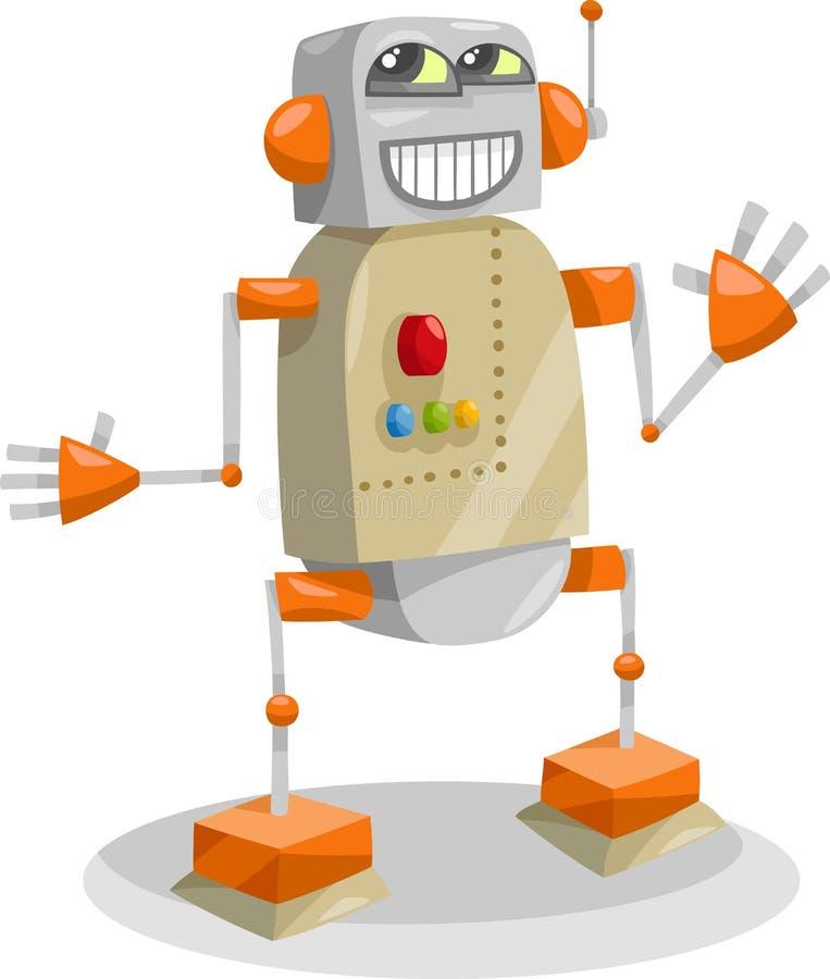Illustration för fantasirobottecknad film vektor illustrationer
