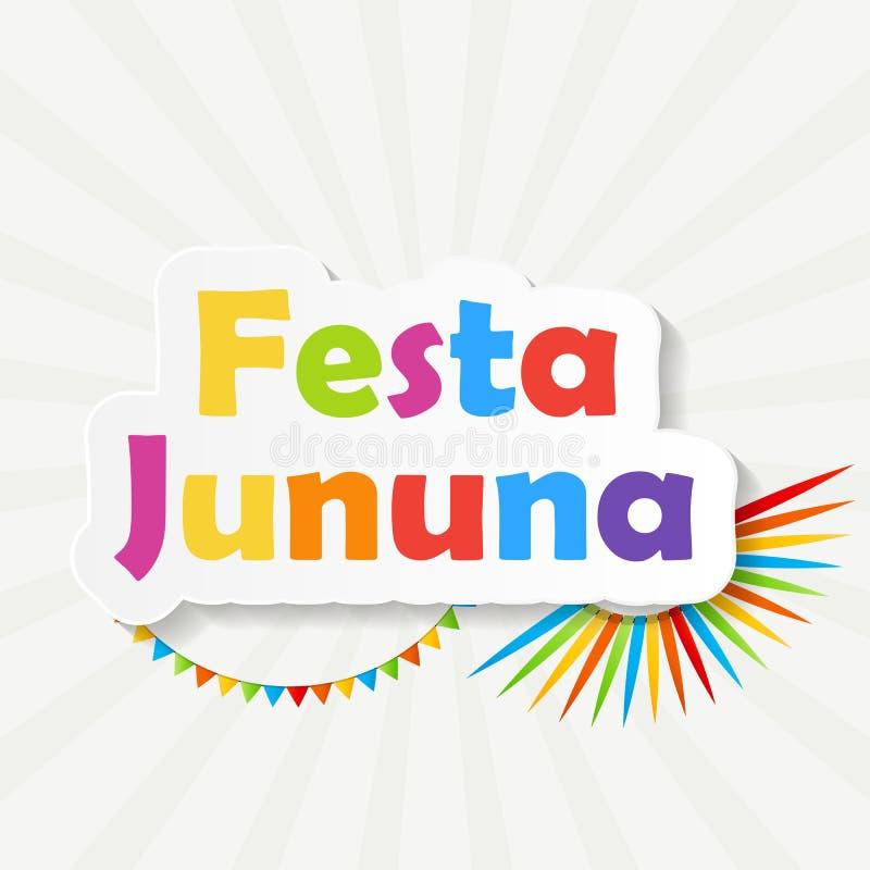 Illustration för Festa Jinina bakgrundsvektor stock illustrationer