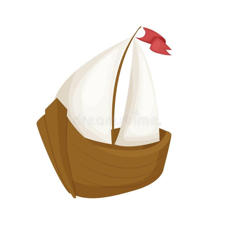 Illustration för flotta för vatten för yacht för lopp för skyttel för transport för vatten för vektor för lägenhet för segelbåt f vektor illustrationer
