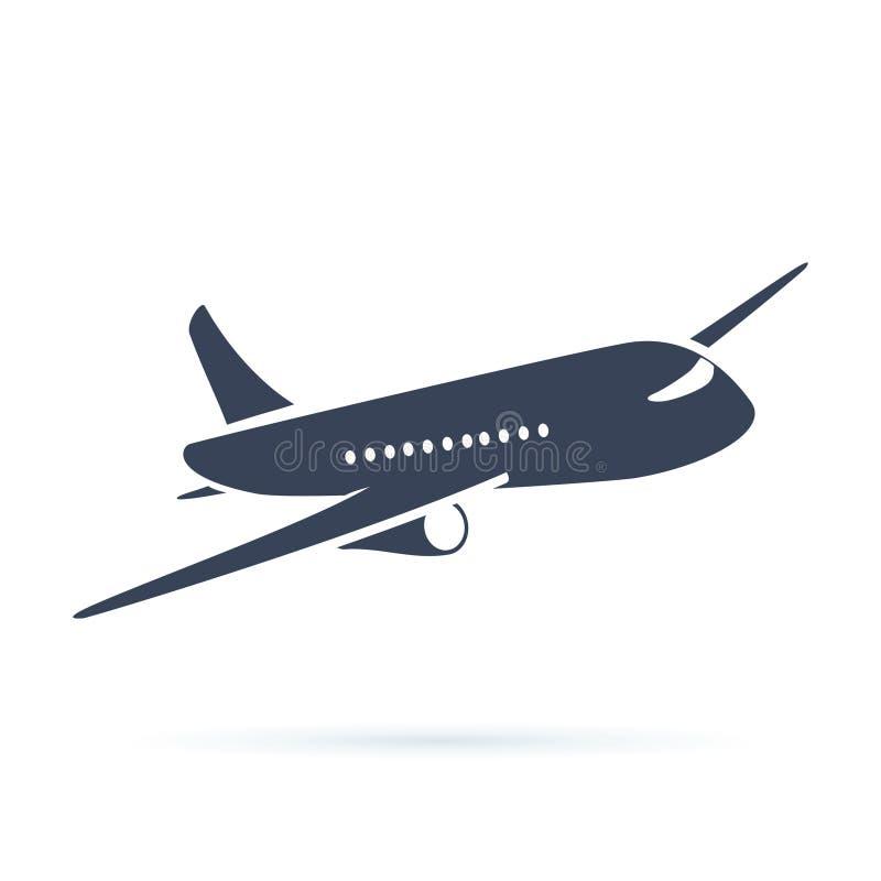 Illustration för flygplansymbolsvektor Symbol för flygplanflyglopp Sikt för plan nivå av en vektor för flygflygplanmateriel royaltyfri illustrationer