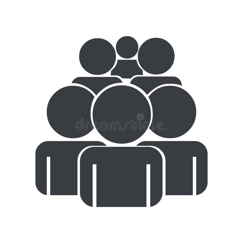 Illustration för folkmassasymbolsvektor Grupp människorvektor vektor illustrationer