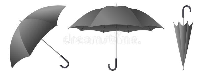 Illustration för grå färgparaplyvektor royaltyfri illustrationer
