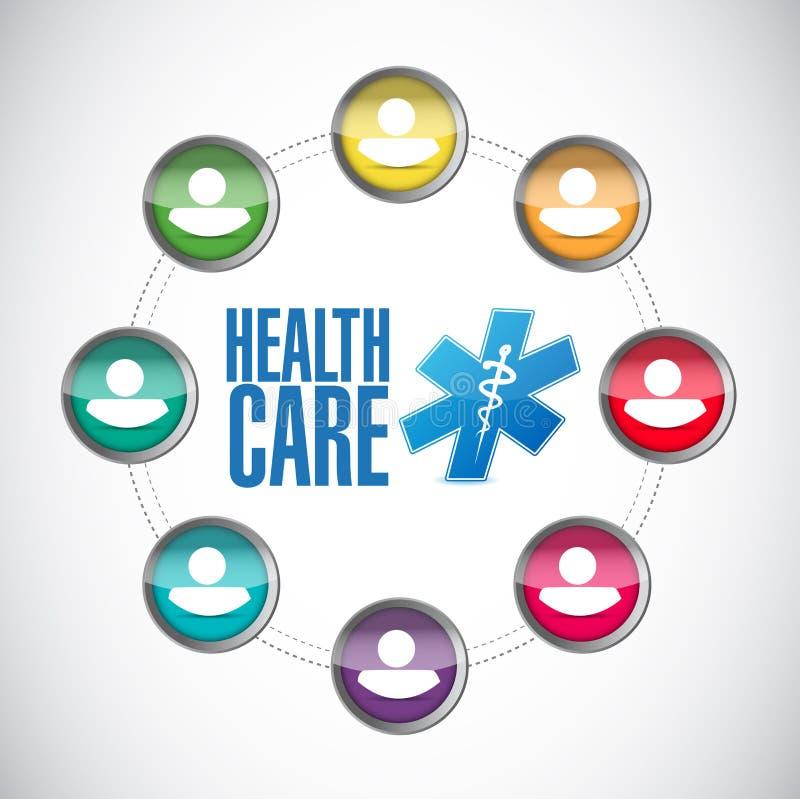 illustration för hälsovårdmedlemdiagram royaltyfri illustrationer