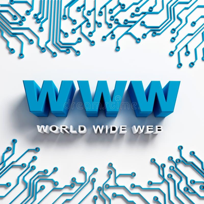 Illustration för hög tech för world wide web vektor illustrationer