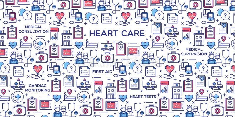 Illustration för hjärtaomsorgvektor vektor illustrationer