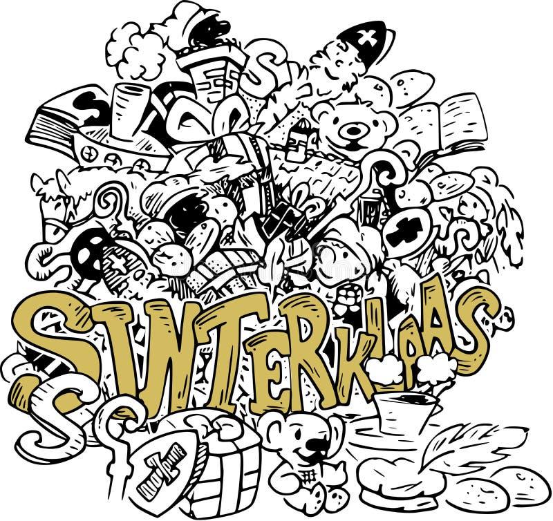 Illustration för holländareSinterklaas parti royaltyfri illustrationer