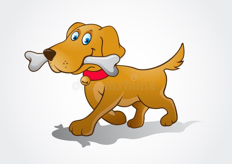 illustration för hund för bakgrundstecknad filmdesign vektor illustrationer