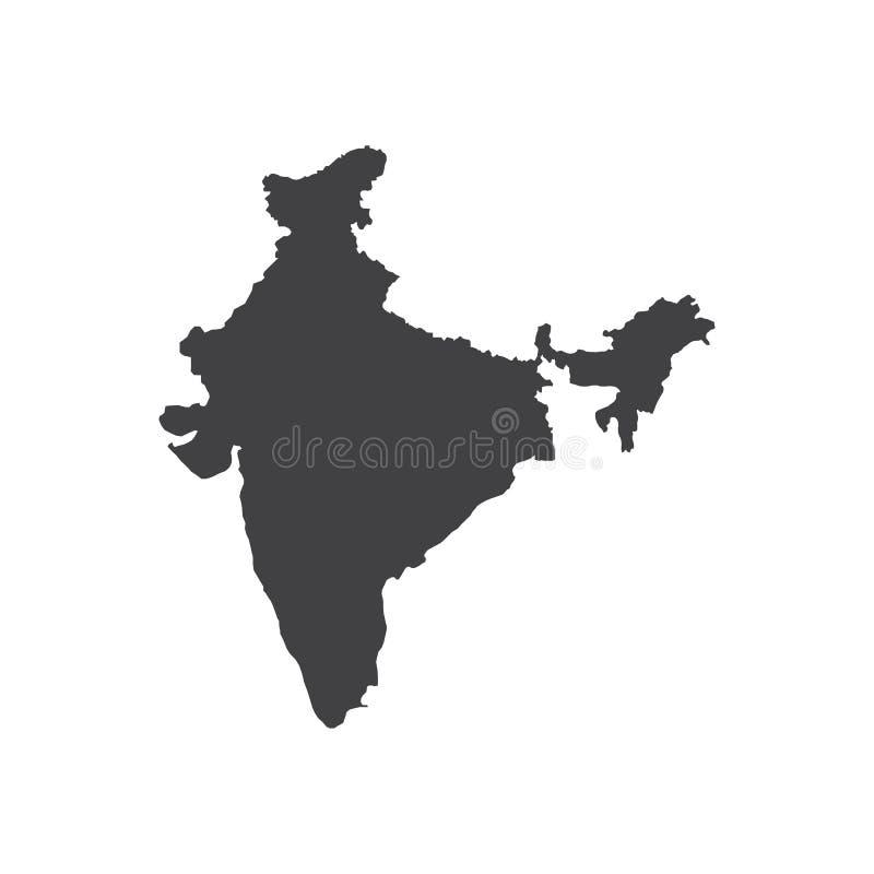 Illustration för Indien översiktskontur royaltyfri illustrationer
