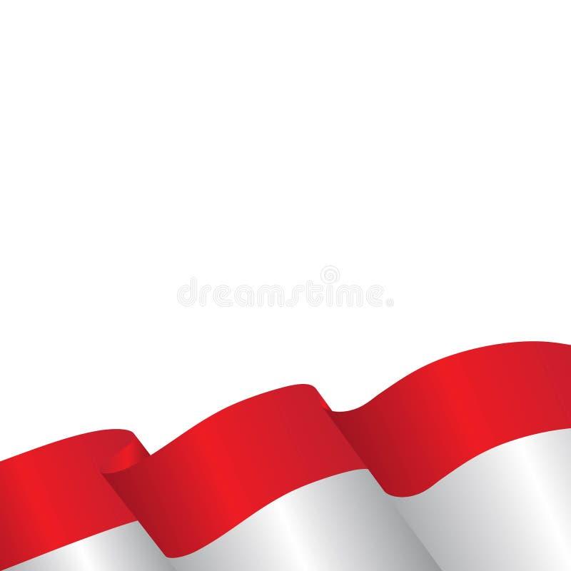 illustration för indonesia flaggavektor royaltyfri illustrationer