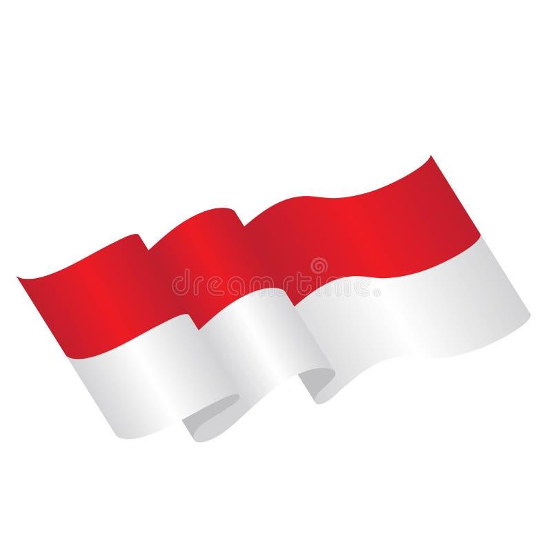 illustration för indonesia flaggavektor vektor illustrationer