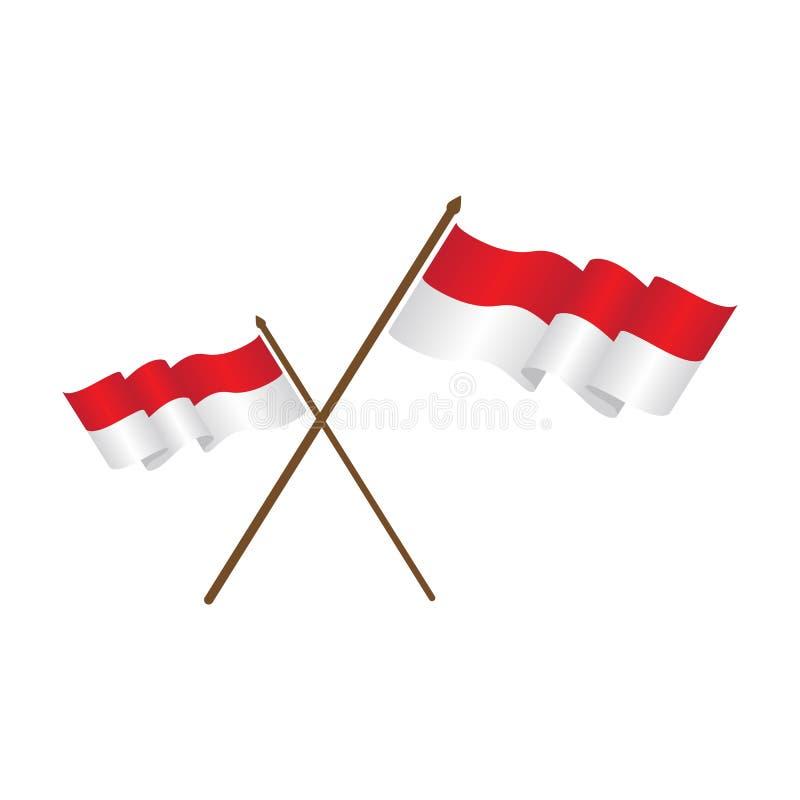 illustration för indonesia flaggavektor stock illustrationer