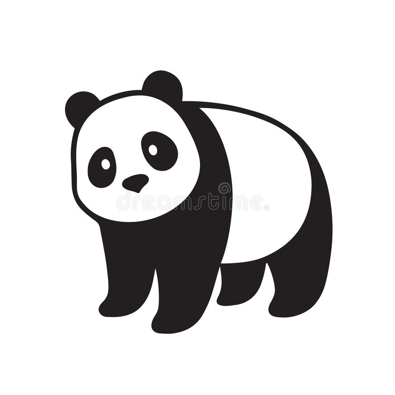 Illustration för jätte- panda stock illustrationer