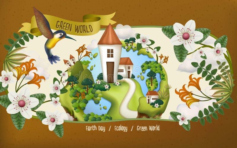 Illustration för jorddag royaltyfri illustrationer