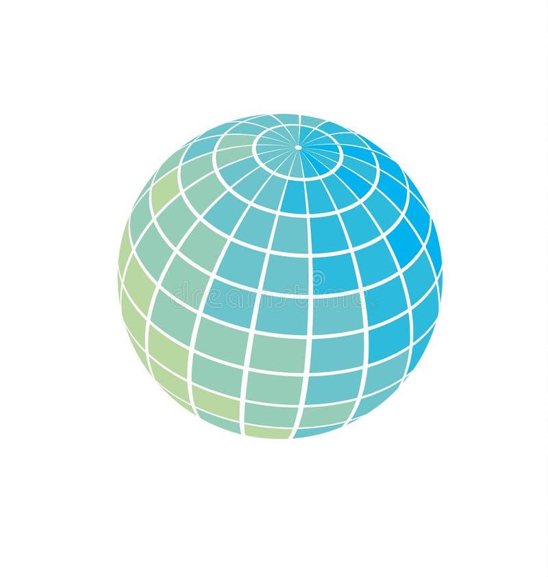 Illustration för jordklotsymbolsvektor royaltyfri illustrationer