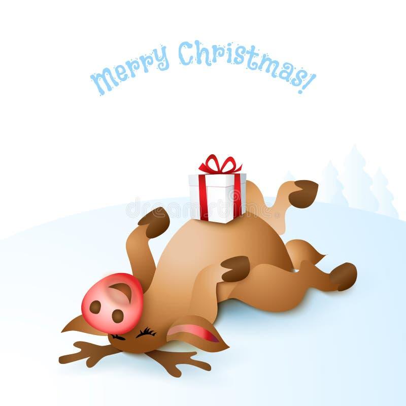 Download Illustration För Julrenvektor Vektor Illustrationer - Illustration av santa, present: 78727231