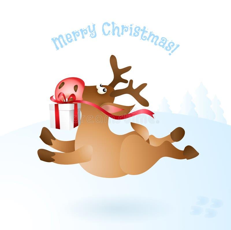 Download Illustration För Julrenvektor Vektor Illustrationer - Illustration av gåva, tecken: 78727311