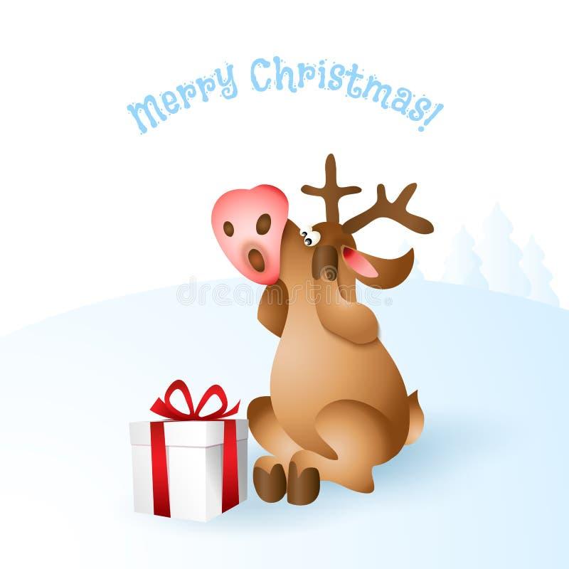 Download Illustration För Julrenvektor Vektor Illustrationer - Illustration av gåva, kort: 78727321