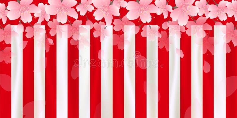 Illustration för körsbärsröd blomning royaltyfri illustrationer