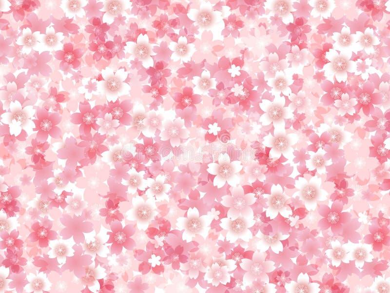 Illustration för körsbärsröd blomning vektor illustrationer