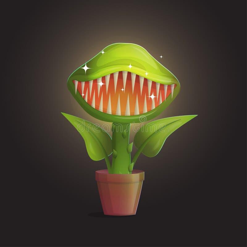 Illustration för köttätande växt för blomma för Venus flytrap royaltyfri illustrationer