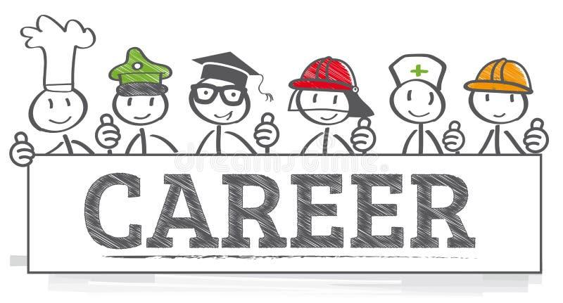 Illustration för karriärrådgivning royaltyfri illustrationer