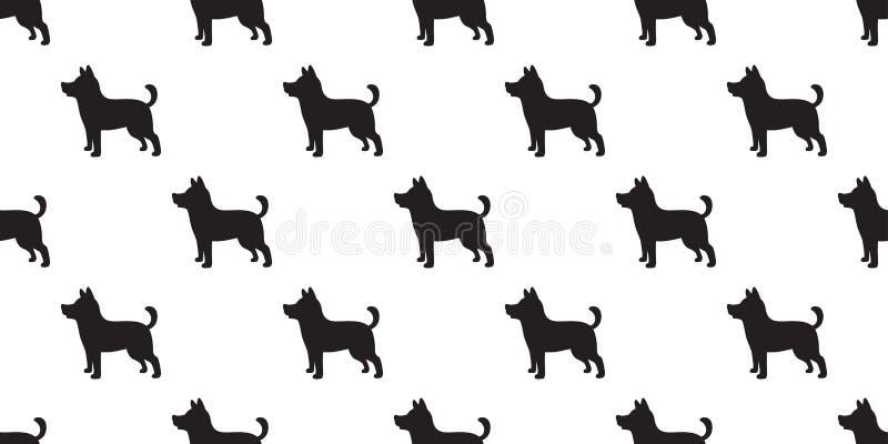 Illustration för klotter för bakgrund för tapet för avel för hund för vektor för fransk bulldogg för hund sömlös modell isolerad vektor illustrationer
