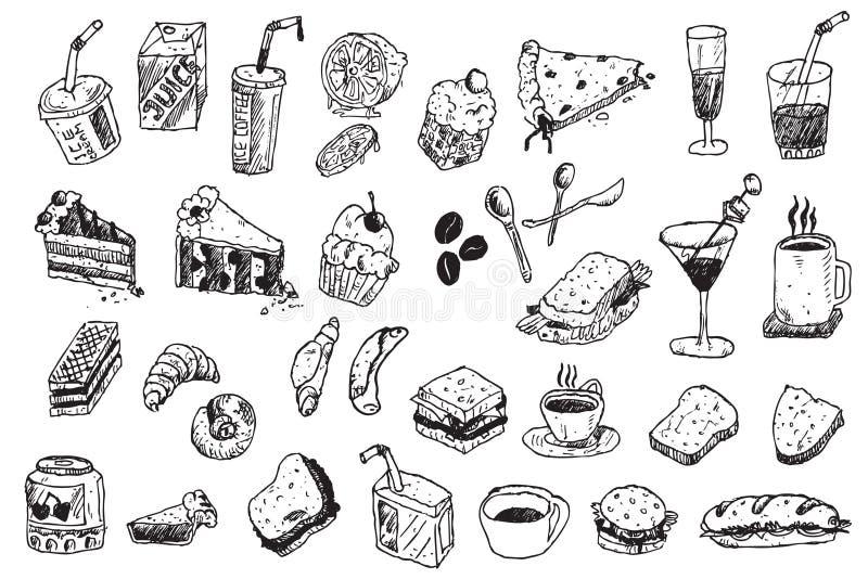 illustration för klotterdrawhand vektor illustrationer