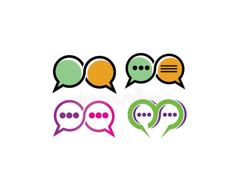 illustration för kommunikation för anförandebubblapratstund stock illustrationer