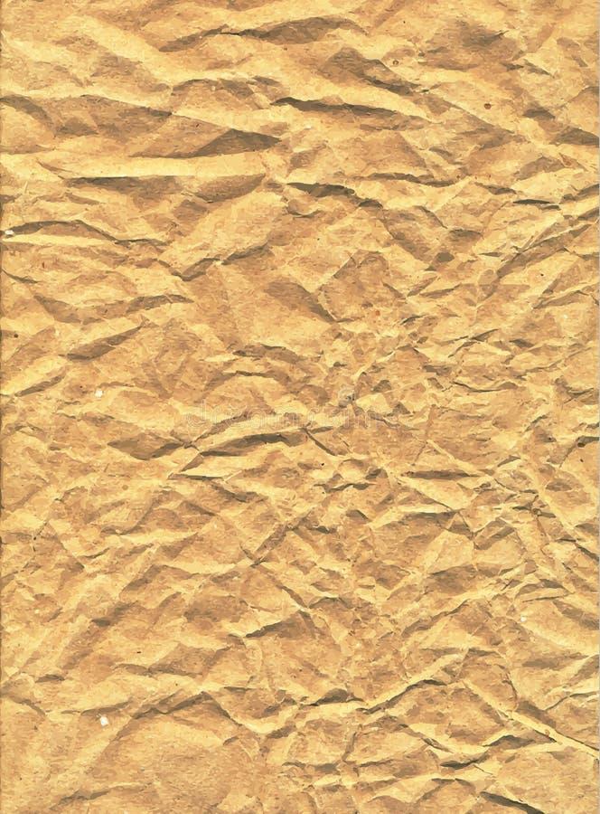 Illustration för Kraft papper, vektortextur, eps10 stock illustrationer