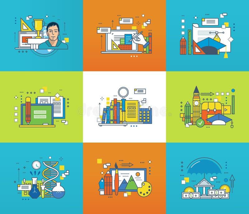 Illustration för kreativitet, för grafisk design, för utbildning och för vetenskaplig forskning royaltyfri illustrationer