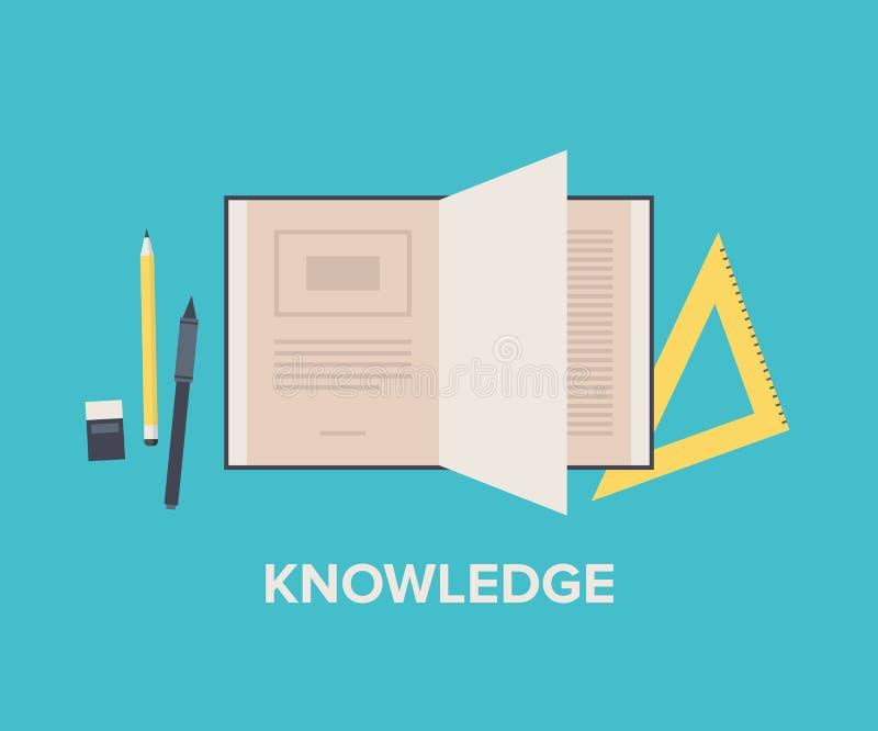 Illustration för kunskapsbegreppslägenhet vektor illustrationer