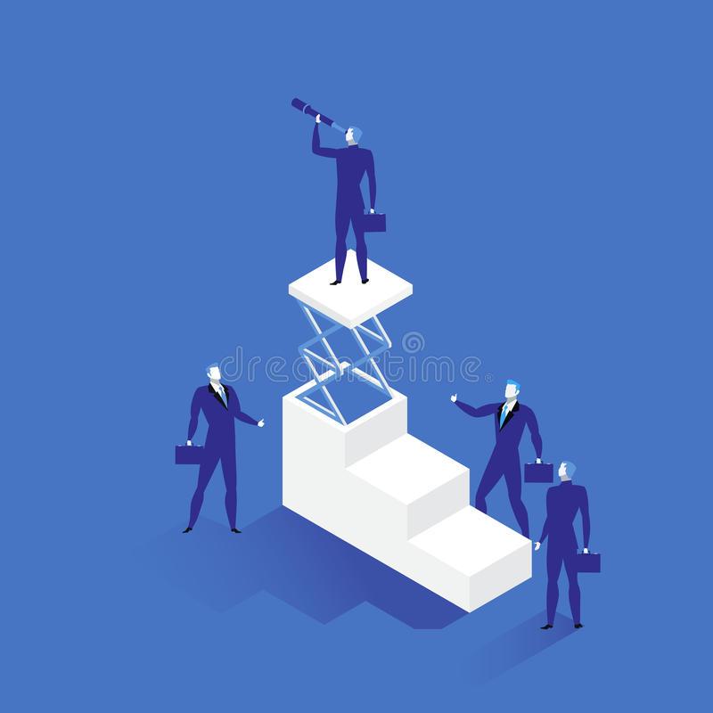 Illustration för ledarskapbegreppsvektor i plan stil vektor illustrationer