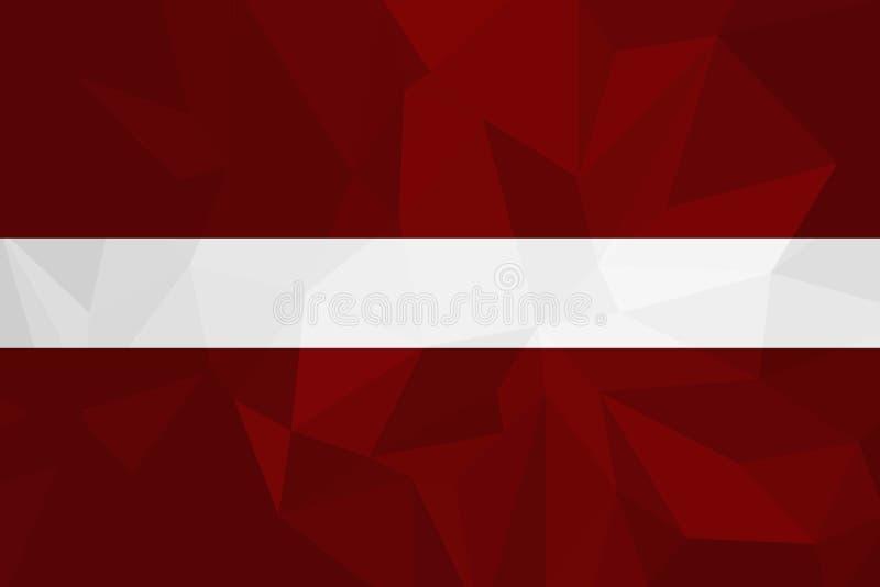 Illustration för Lettland flaggavektor Lettland flagga Nationsflagga av Lettland royaltyfri illustrationer