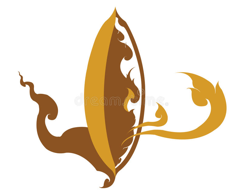 Illustration för logo för symbolsThailand ris vektor illustrationer