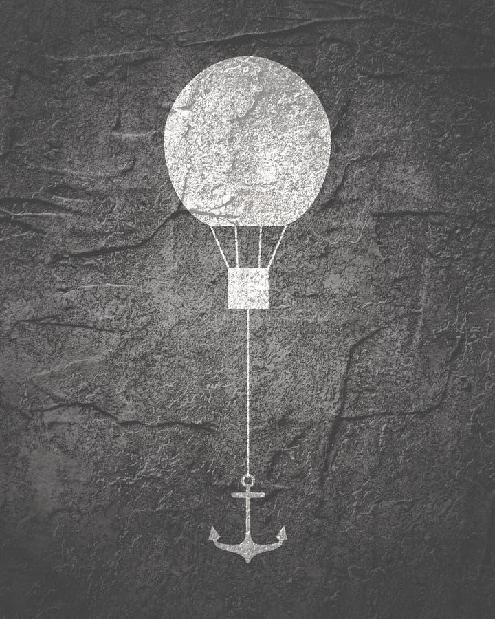 Illustration för luftballong arkivfoton