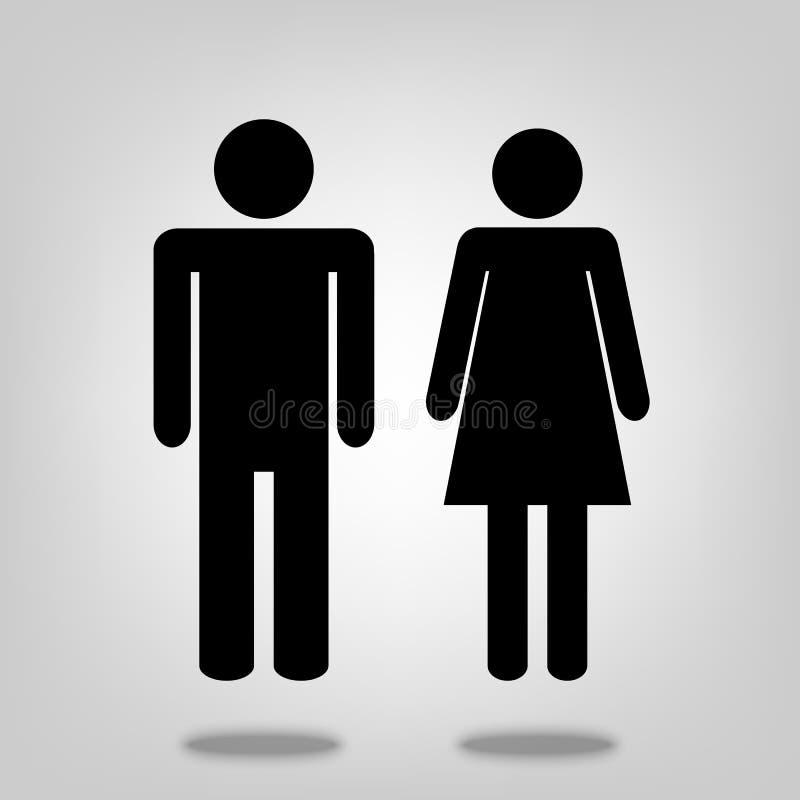 Illustration för man- och kvinnavektorsymbol för den grafiska designen, logo, webbplats, socialt massmedia, mobil app, ui royaltyfri illustrationer