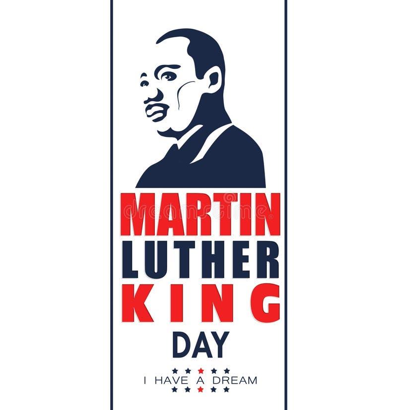 Illustration för Martin Luther King Day på vit bakgrund vektor illustrationer