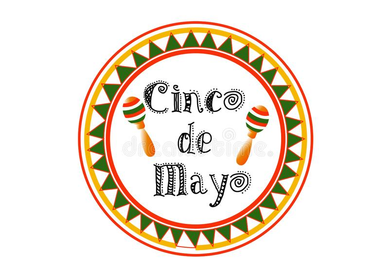 Illustration för materiel för royalty för vektor för Cinco De Mayo bunting bakgrundsEPS 10 fri för hälsningkortet, annons,  stock illustrationer