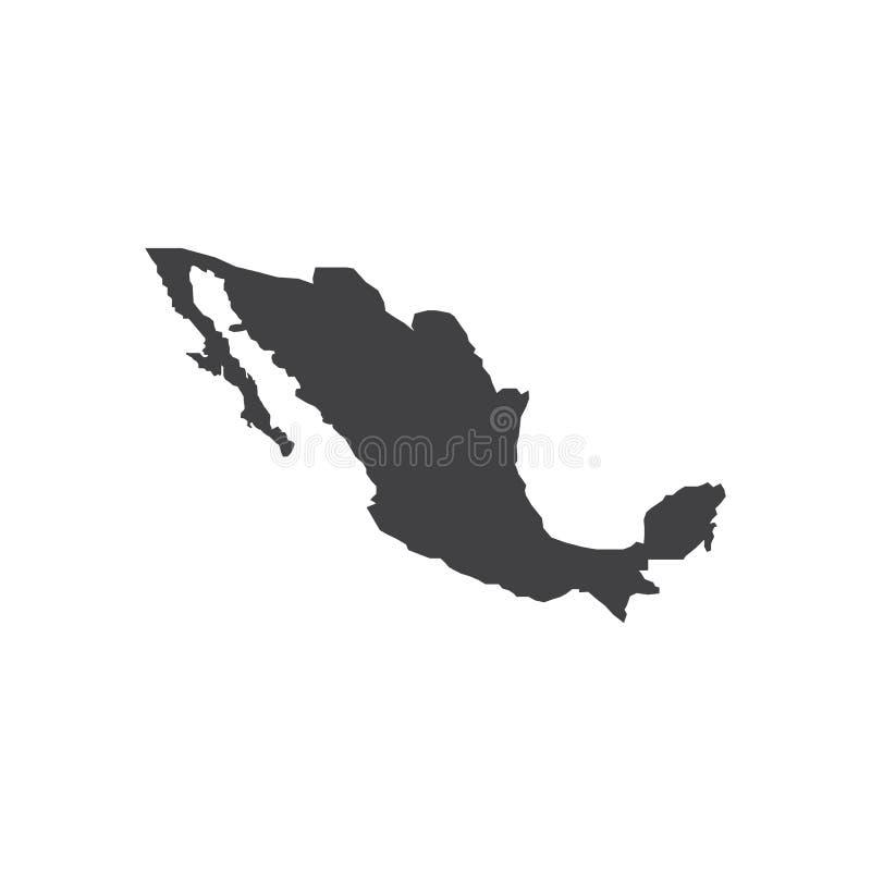 Illustration för Mexico översiktskontur stock illustrationer