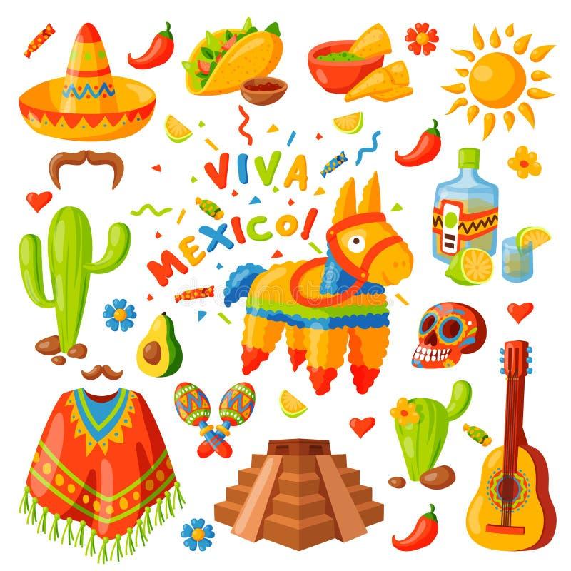 Illustration för Mexico symbolsvektor vektor illustrationer