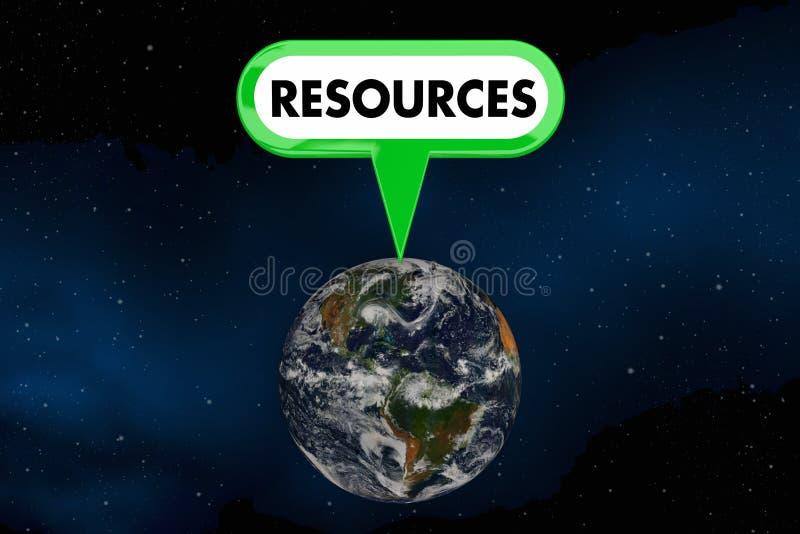 Illustration för miljöskydd 3d för resursplanetjord vektor illustrationer