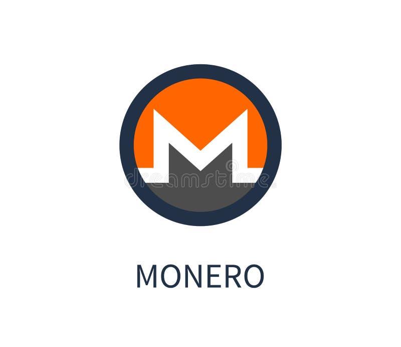 Illustration för Monero Cryptocurrency symbolsvektor vektor illustrationer
