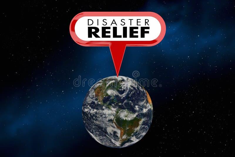 Illustration för nödläge 3d för hjälp för hjälp för katastroflättnad global royaltyfri illustrationer